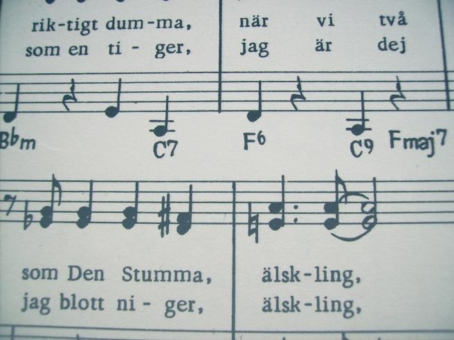 körsång notes